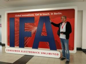 Reporter POLAROTOR-a Vladimir Bubanja na sajmu IFA 2019 u Berlinu
