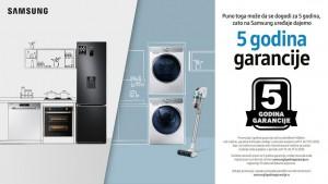 Pet godina garancije na Samsung kućne aparate
